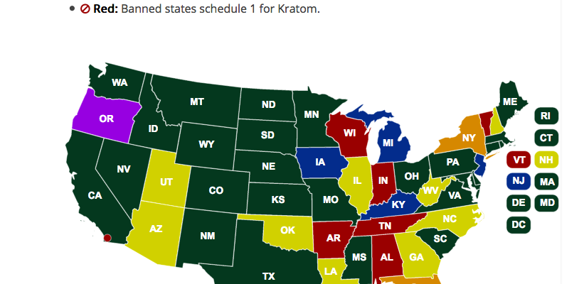 The Legal Status of Kratom