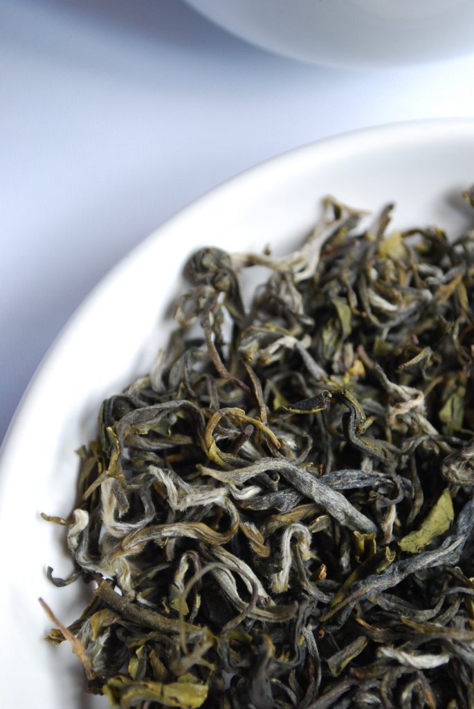 picture of a bowl with tea leaves